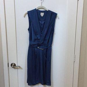 Reiss Blue Silk Dress Size 4